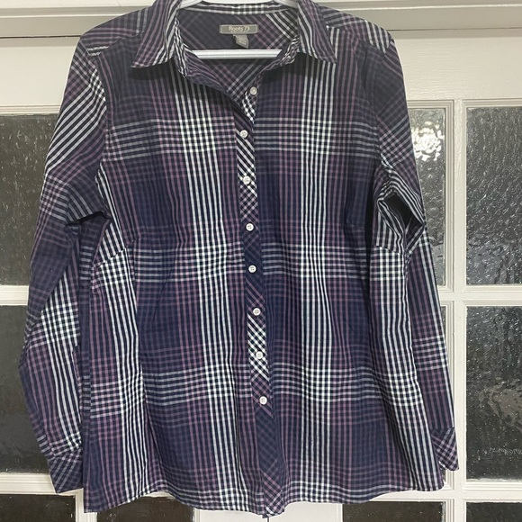 Roots 73 Plaid Blouse